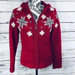 Eddie Bauer Collectibles Wool Zip Up Sweater XS